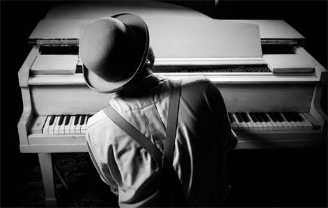 aprenda blues no piano